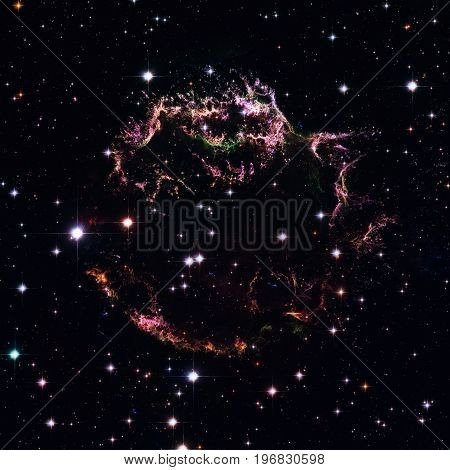 Cassiopeia A - Colourful Aftermath Of A Violent Stellar Death.