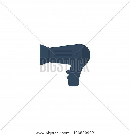 Flat Icon Hairdryer Element. Vector Illustration Of Flat Icon Blow-Dryer Isolated On Clean Background