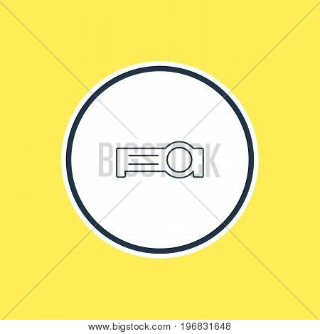 Beautiful Laptop Element Also Can Be Used As Presentation Element.  Vector Illustration Of Floodlight Outline.