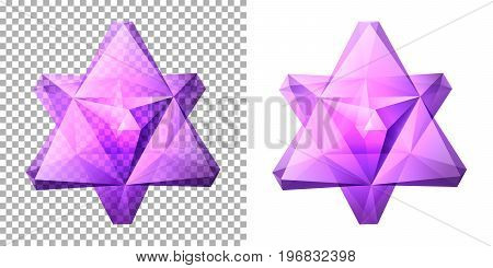 Vector transparent complex geometric shape based on two tetrahedrons