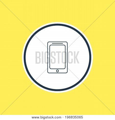 Beautiful Laptop Element Also Can Be Used As Smartphone Element.  Vector Illustration Of Mobile Phone Outline.