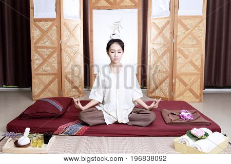 Thai Massage. Women Pay Attention To Relaxation And Health.t