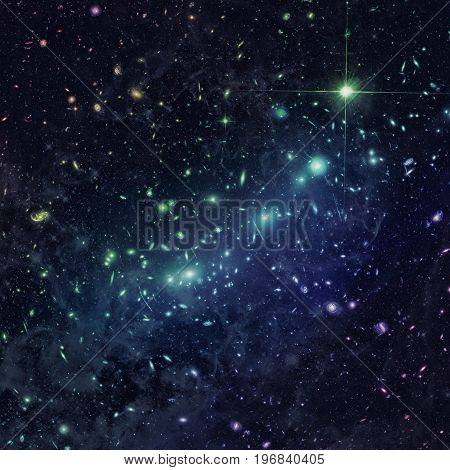 Kaleidoscope Of Galaxy Clusters In The Constellation Eridanus