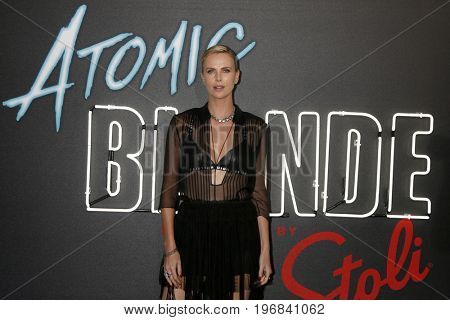 "LOS ANGELES - JUL 24:  Charlize Theron at the ""Atomic Blonde"" Los Angeles Premiere at The Theatre at Ace Hotel on July 24, 2017 in Los Angeles, CA"