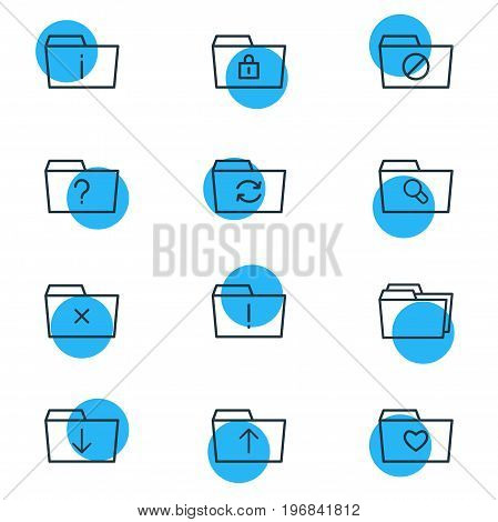 Editable Pack Of Liked, Closed, Recovery And Other Elements.  Vector Illustration Of 12 Document Icons.
