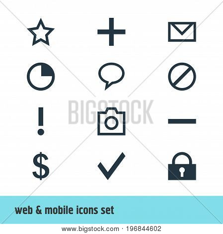 Editable Pack Of Money Making, Letter, Talk Bubble And Other Elements.  Vector Illustration Of 12 Member Icons.