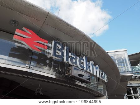 Blackfriars Railway Station In London