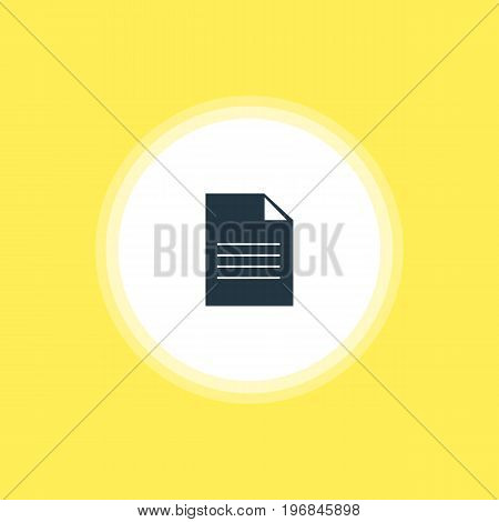 Beautiful Web Element Also Can Be Used As Document Element.  Vector Illustration Of File Icon.