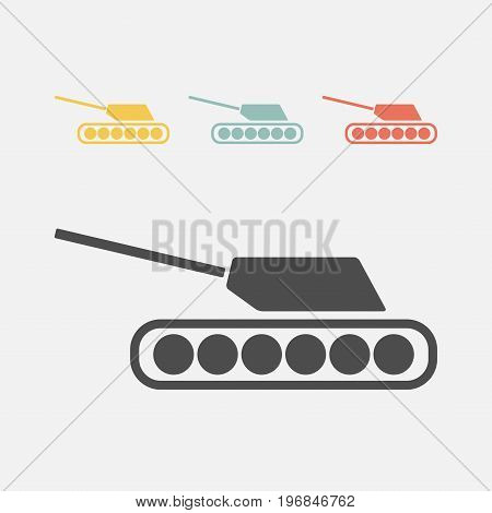 tank icon. Vector sign for web graphics.