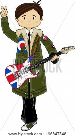 Mod Boy With Guitar
