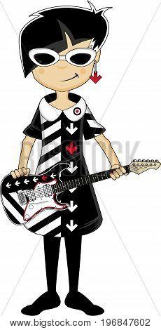 Cool Mod Girl & Guitar.eps