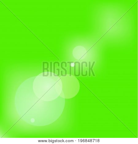 Background flare on a green background. Sunbeam or a ray of sunshine. vector