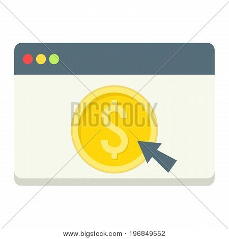 Online banking flat icon, business and finance, ecommerce sign vector graphics, a colorful solid pattern on a white background, eps 10.