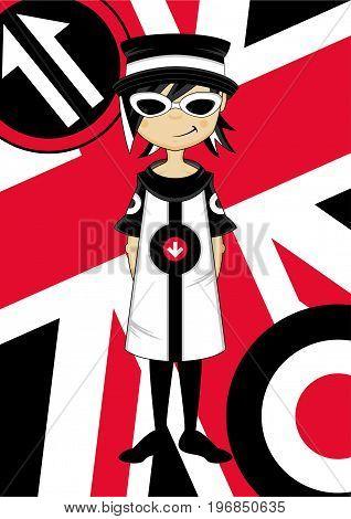 Cool Union Jack Mod Girl