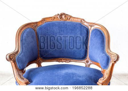 Blue sofa couch in vintage room - classical style