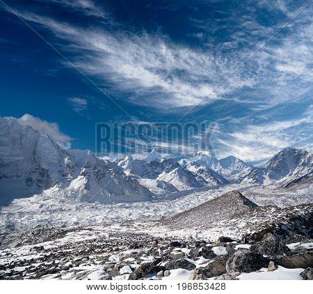 Himalaya Mountain Landscape In Everest Region, Nepal