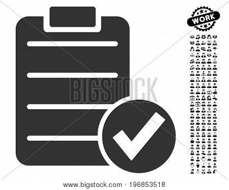Apply Form icon with black bonus profession pictograms. Apply Form vector illustration style is a flat gray iconic element for web design, app user interfaces.