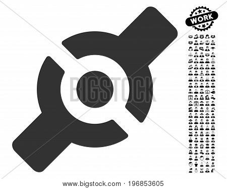 Artificial Joint icon with black bonus professional pictures. Artificial Joint vector illustration style is a flat gray iconic symbol for web design, app user interfaces.