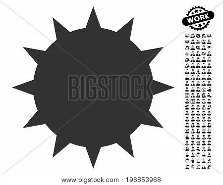 Bacterium icon with black bonus men images. Bacterium vector illustration style is a flat gray iconic element for web design, app user interfaces.