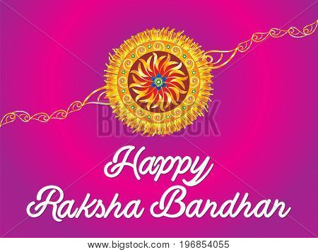 abstract artistic detailed raksha bandhan vector illustration