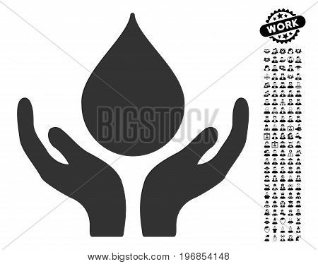 Blood Donation icon with black bonus professional pictograph collection. Blood Donation vector illustration style is a flat gray iconic symbol for web design, app user interfaces.