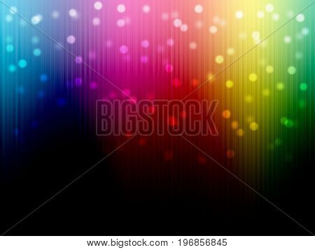 Bokeh on Rainbow blurred spectrum multicolor on black color background