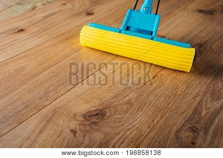 floor cleaning with a mop