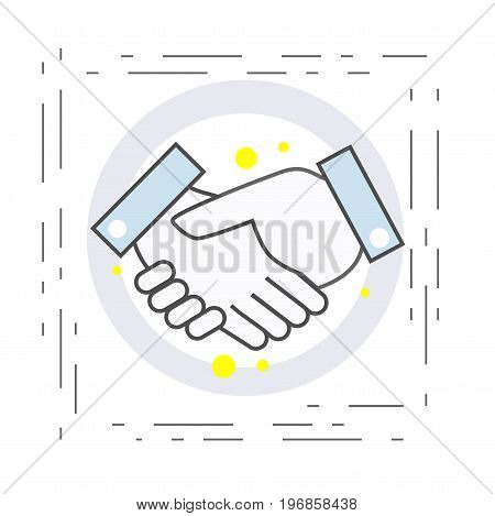 Icon of the handshake. Symbol of agreement and cooperation in business. vector