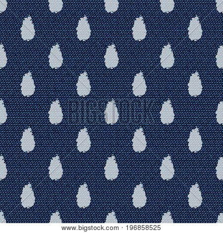 Dark blue jeans seamless texture. Denim background with water drops. Can be used for wallpaper pattern fills web page background surface textures. Denim texture