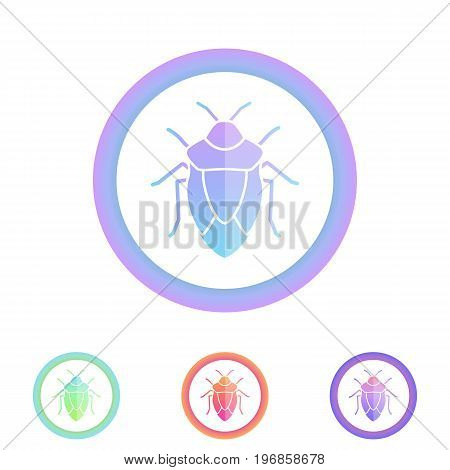 Beetle vector icon. Antivirus protection concept. Insect