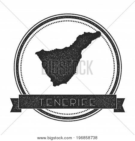 Tenerife Map Stamp. Retro Distressed Insignia. Hipster Round Badge With Text Banner. Island Vector I