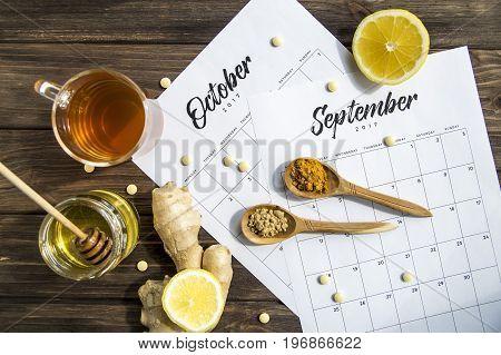 Treatment of autumn spleen by folk methods - tea, lemon, ginger and turmeric