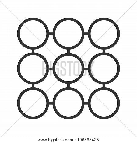 Structure linear icon. Thin line illustration. Composition abstract metaphor contour symbol. Vector isolated outline drawing