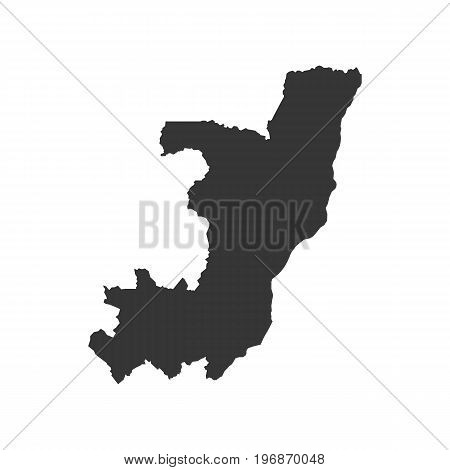 Republic of the Congo map outline on the white background. Vector illustration