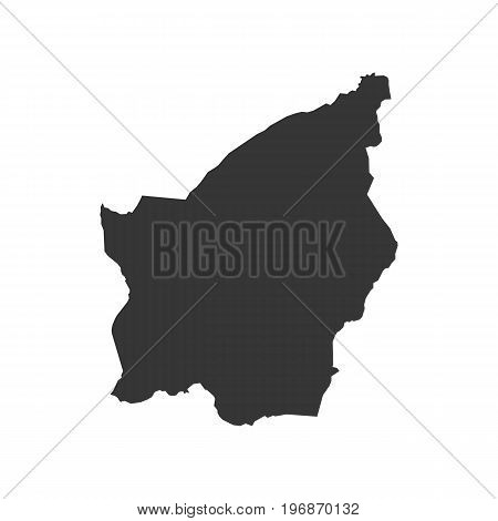 San Marino map outline on the white background. Vector illustration