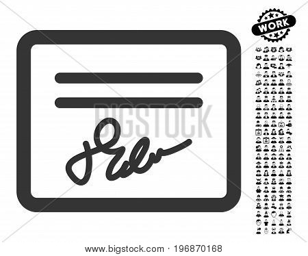 Mail Attachment icon with black bonus professional symbols. Mail Attachment vector illustration style is a flat gray iconic symbol for web design, app user interfaces.
