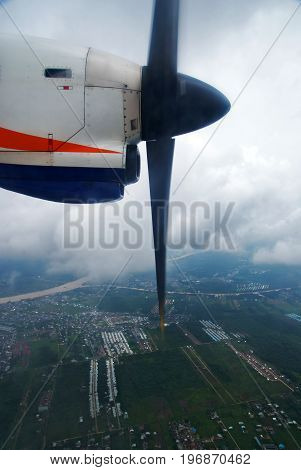 Aircraft Propeller, airplane propeller, airplane windows view
