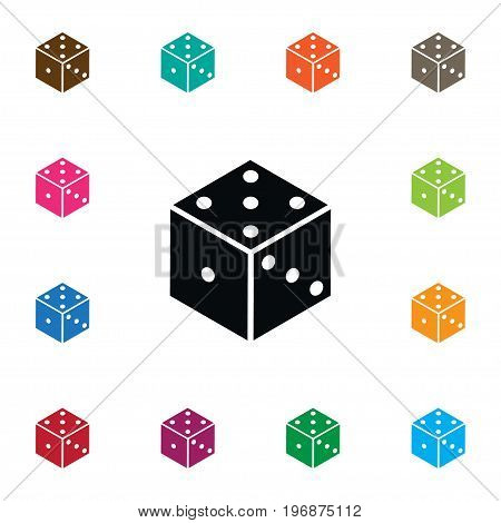 Dice  Vector Element Can Be Used For Die, Dice, Luck Design Concept.  Isolated Die Icon.