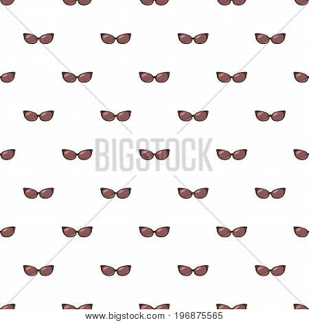 Brown sunglasses pattern seamless repeat in cartoon style vector illustration