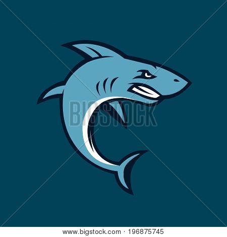 Shark illustration. Shark isolated on background. Vector stock.