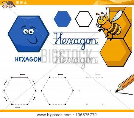 Hexagon Cartoon Basic Geometric Shapes