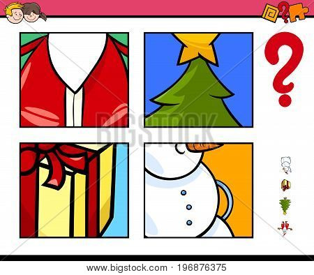 Guess Xmas Items Cartoon Game For Children