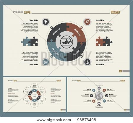 Infographic design set can be used for workflow layout, diagram, annual report, presentation, web design. Business and logistics concept with process charts.