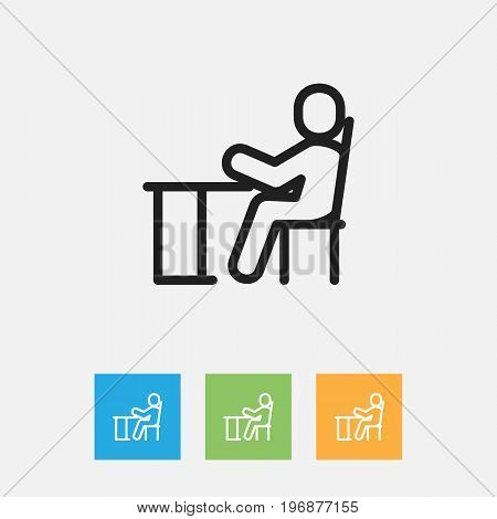 Vector Illustration Of Teach Symbol On Children Outline