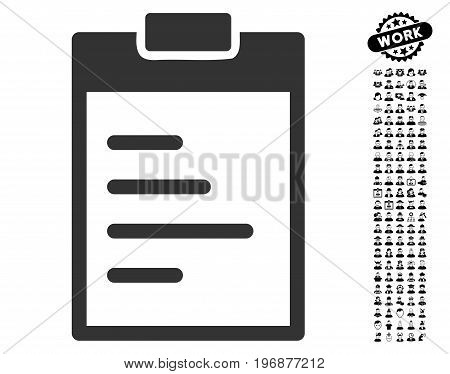 Pad Text icon with black bonus work design elements. Pad Text vector illustration style is a flat gray iconic symbol for web design, app user interfaces.