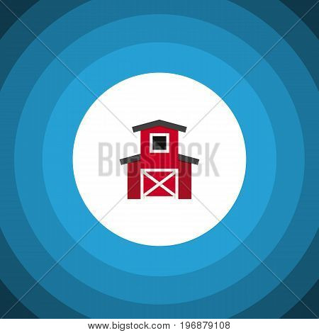 Depot Vector Element Can Be Used For Depot, Barn, Hangar Design Concept.  Isolated Hangar Flat Icon.