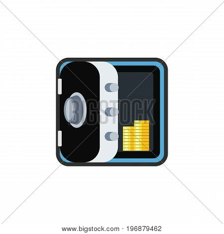 Banking Vector Element Can Be Used For Coins, Banking, Strongbox Design Concept.  Isolated Coins Flat Icon.