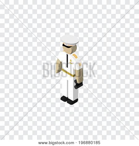 Seaman Vector Element Can Be Used For Seaman, Sailor, Mariner Design Concept.  Isolated Sailor Isometric.