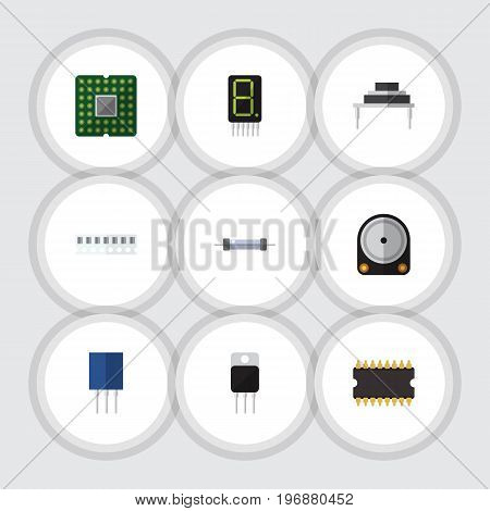 Flat Icon Appliance Set Of Memory, Hdd, Destination And Other Vector Objects