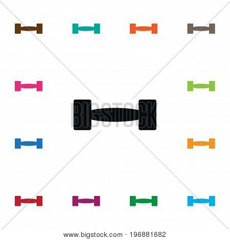 Strength Vector Element Can Be Used For Barbell, Strength, Heavy Design Concept.  Isolated Barbell Icon.